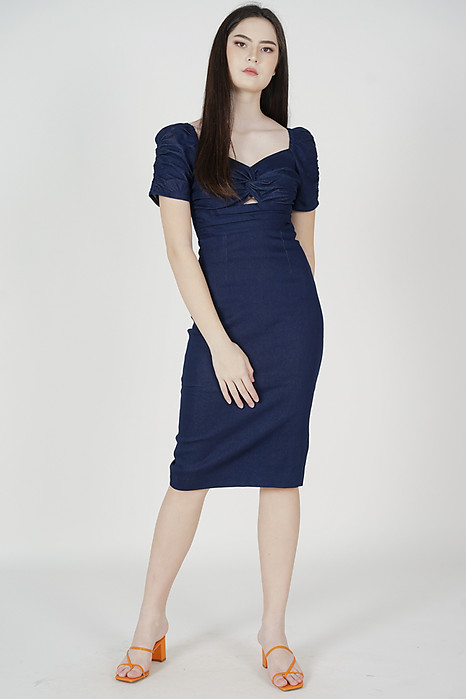 Maxine Denim Dress in Dark Blue - Arriving Soon