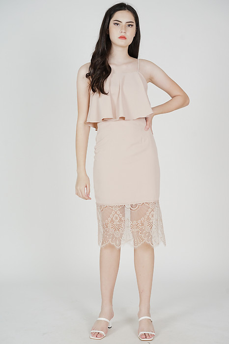 Lara Overlay Dress in Pink - Arriving Soon