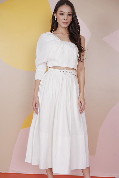 Wetzel Flared Skirt in White - Arriving Soon