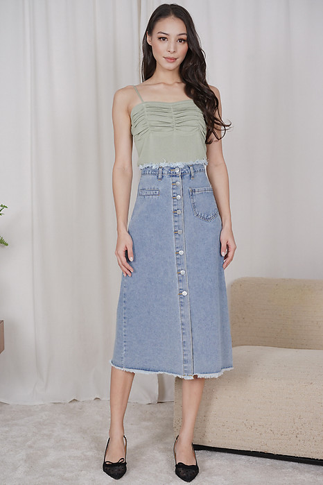 Arlea Denim Skirt in Light Blue - Online Exclusive