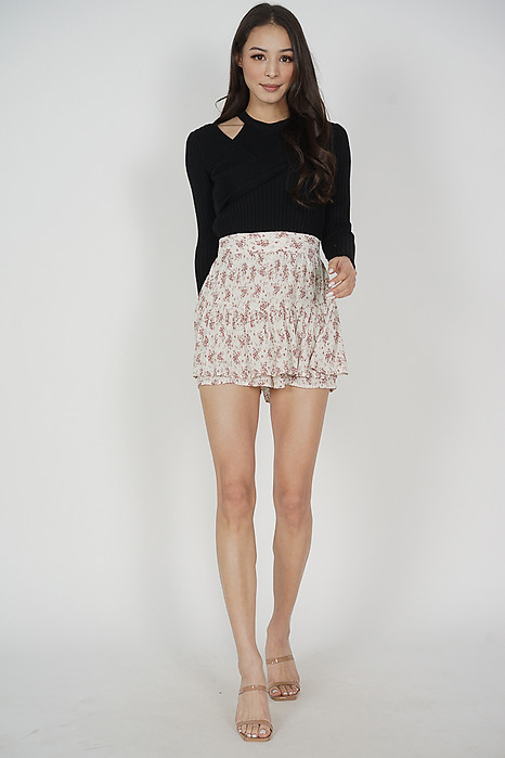 Martin Ruffled Skorts in Cream - Arriving Soon