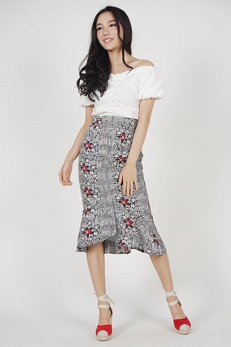 Color-Block Mermaid Skirt in Jacquard