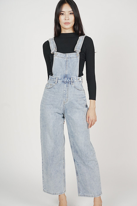 Shayne Denim Dungarees in Blue - Arriving Soon