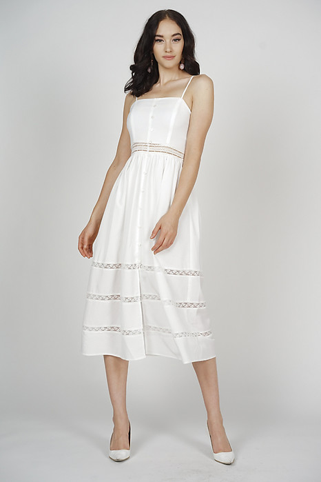 Miranda Cami Dress in White - Arriving Soon
