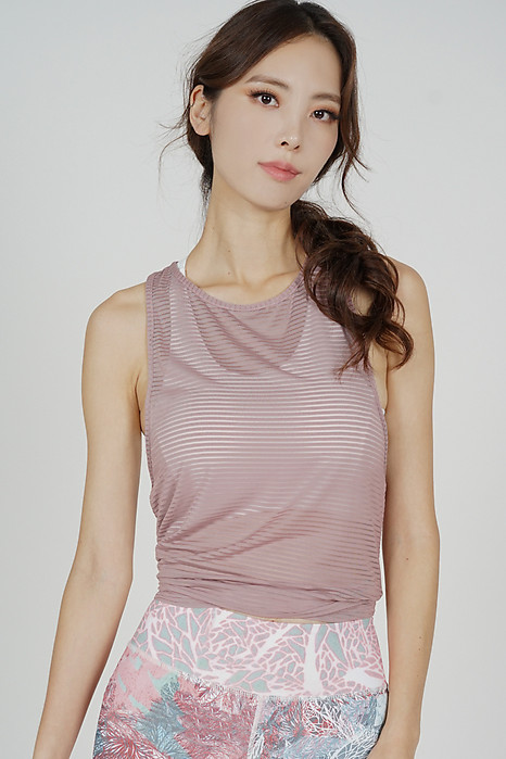 Albea Mesh Top in Pink