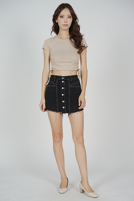Crisya Stitch Skorts in Black - Online Exclusive