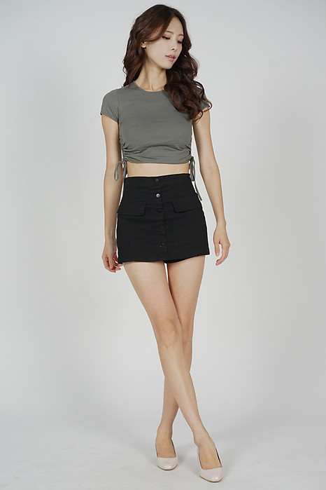 Gregory Mini Skorts in Black - Arriving Soon