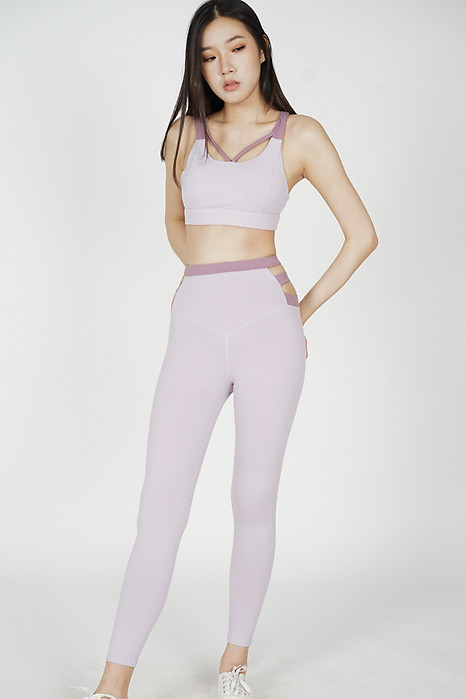 Garin Cutout Gym Tights in Pink - Arriving Soon