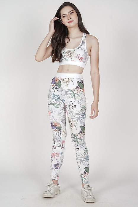 Denni Padded Top in White Floral - Arriving Soon