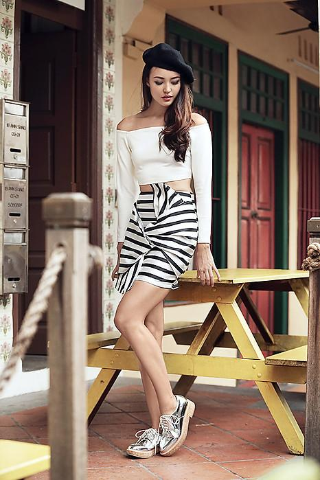 Striped Bow Skirt