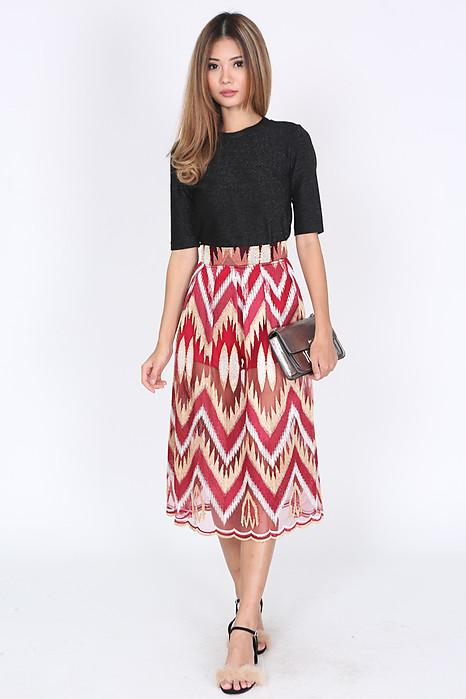 Claudinas Skirt in Red