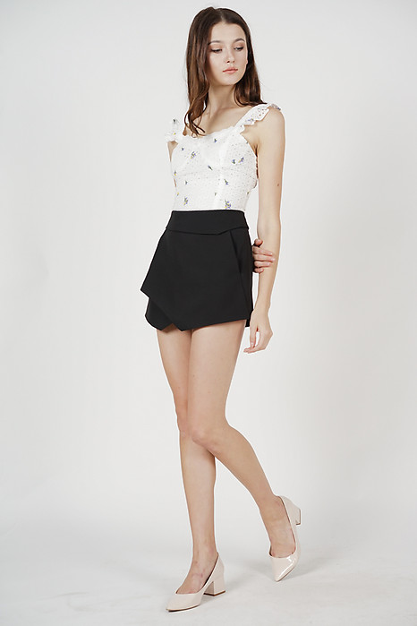 Ellina High Waist Skorts in Black - Arriving Soon