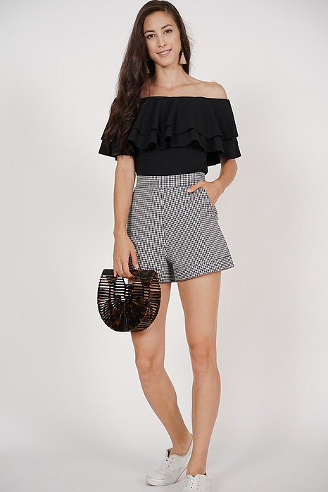 Contemporary Shorts in Black