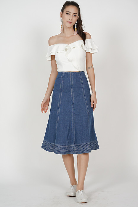 Flared Denim Skirt