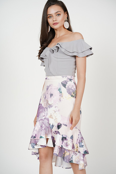 Sebelle Mermaid Skirt in Multi Floral