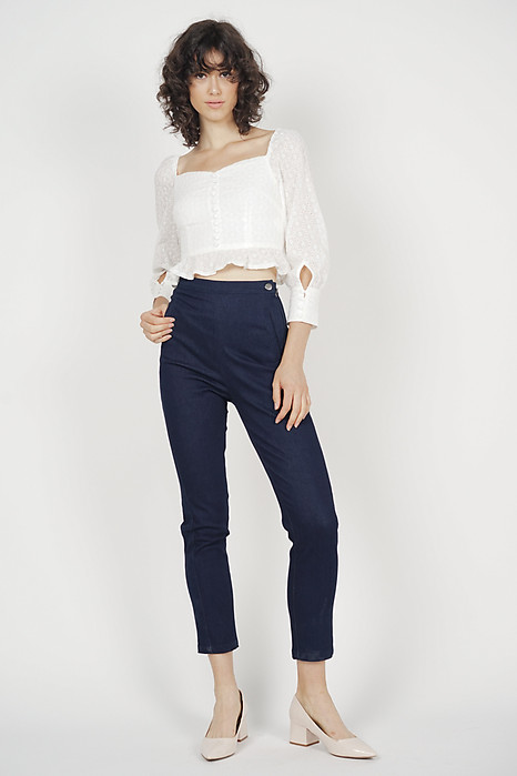 Andra Denim Pants in Dark Blue