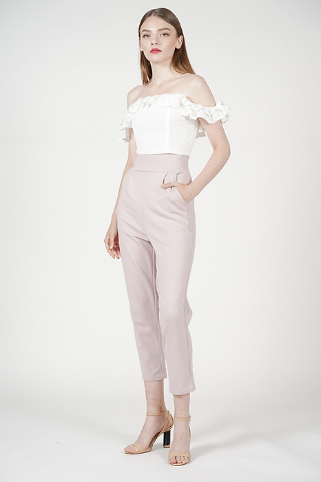 Alba Straight Pants in Pink
