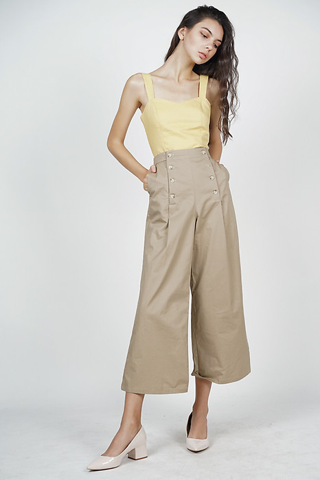 Maeja Button-Up Pants in Khaki