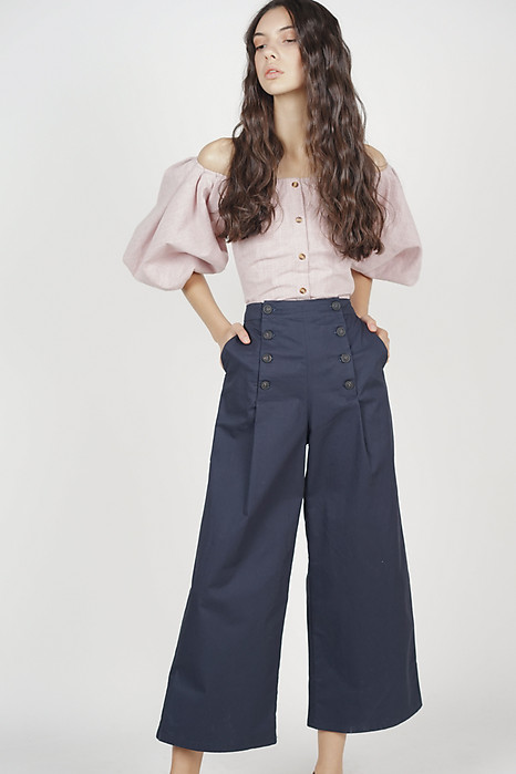 Maeja Button-Up Pants in Midnight
