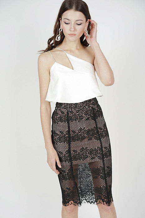 Julia Lace Skirt in Black