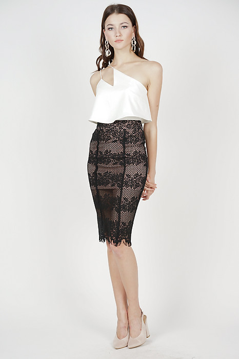 Julia Lace Skirt in Black - Arriving Soon