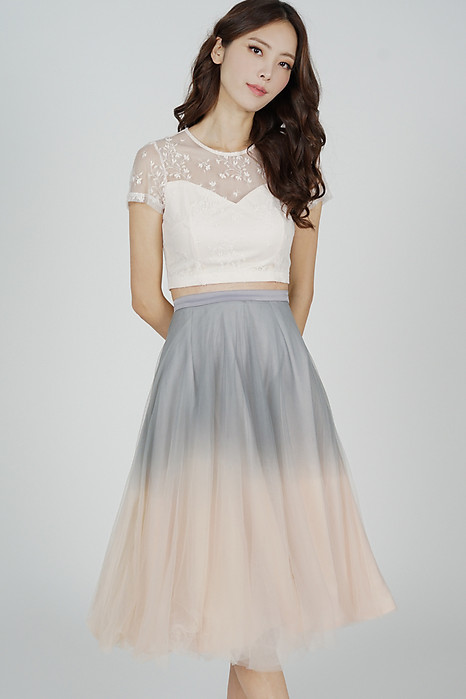 Ombre Tulle Skirt in Grey Pink - OLD