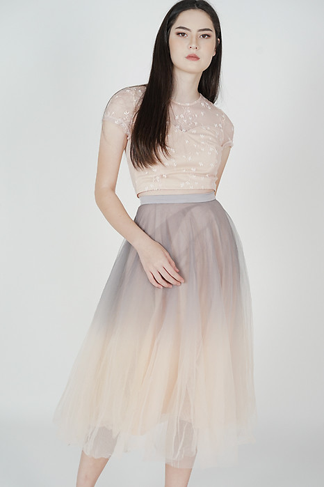 Ombre Tulle Skirt in Grey Pink - Arriving Soon