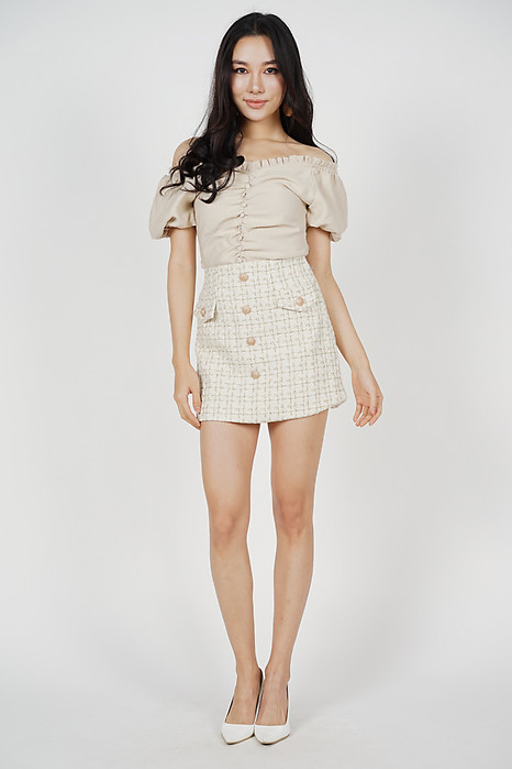 Mini Tweed Skirt in White - Online Exclusive