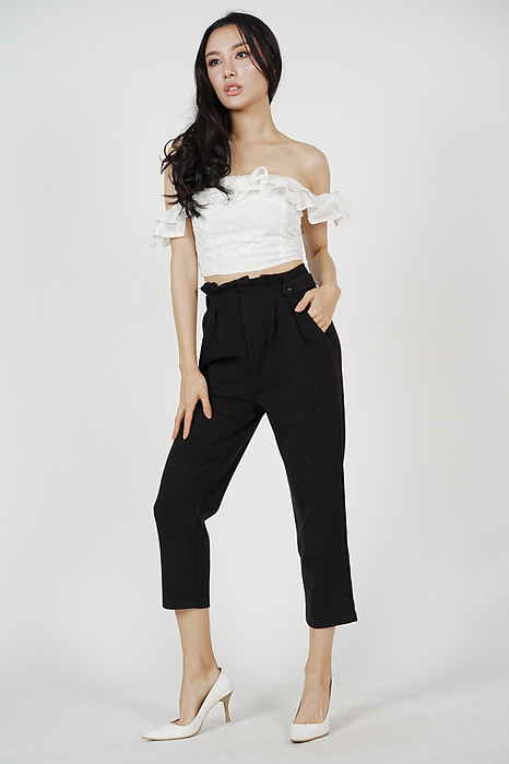 Alastair Straight Pants in Black (Online Exclusive)