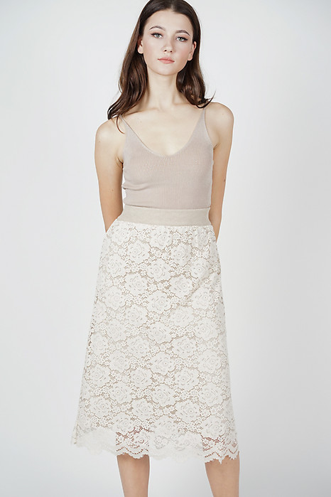 Syrena Reversible Skirt in Beige - Online Exclusive