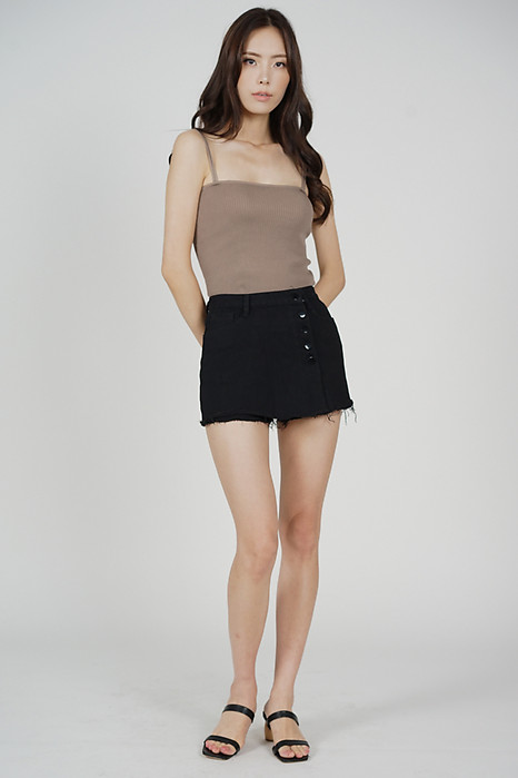 Arley Denim Skorts in Black - Online Exclusive