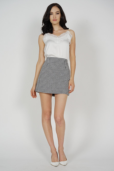 Janet Tweed Skirt in Houndstooth - Arriving Soon