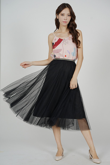 Malini Tulle Skirt in Black