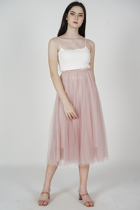 Malini Tulle Skirt in Pink