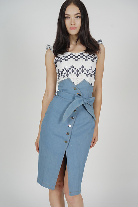 Alris Denim Skirt in Light Blue