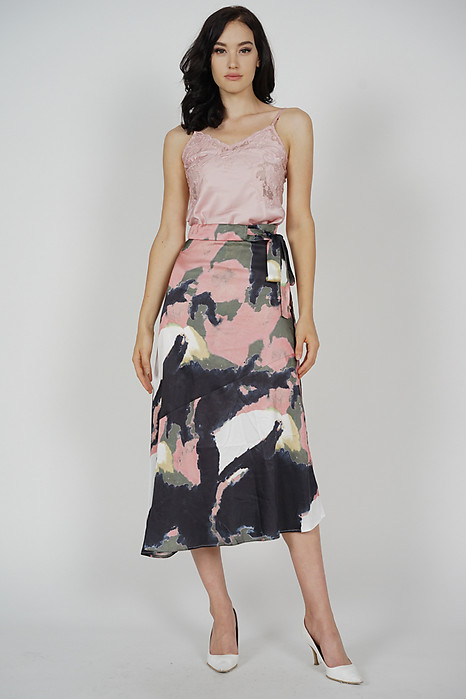 Adamia Abstract Skirt in Pink Multi - Arriving Soon