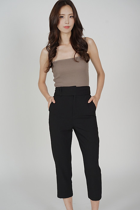 Gretchen Straight Pants in Black - Arriving Soon