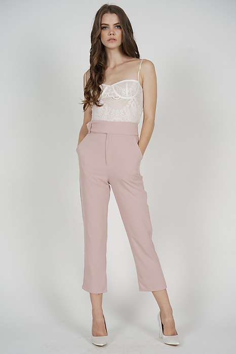 Gretchen Straight Pants in Pink - Arriving Soon