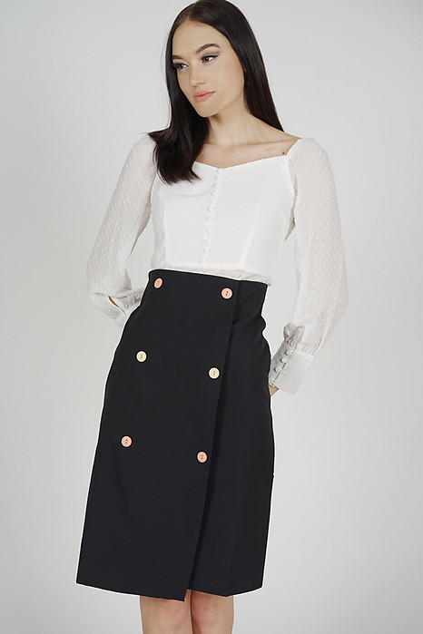 Malia Midi Skirt in Black - Online Exclusive