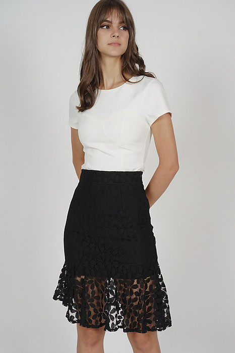 Cheilyn Lace Skirt in Black - Online Exclusive