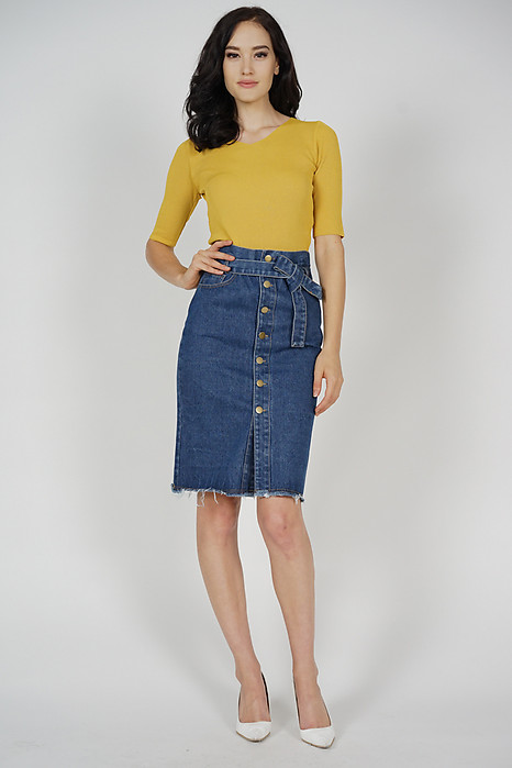 Awra Denim Skirt in Dark Blue - Online Exclusive