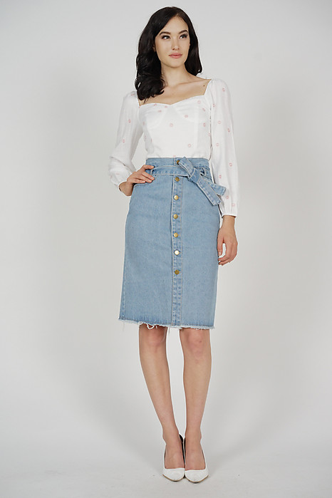 Awra Denim Skirt in Light Blue - Online Exclusive