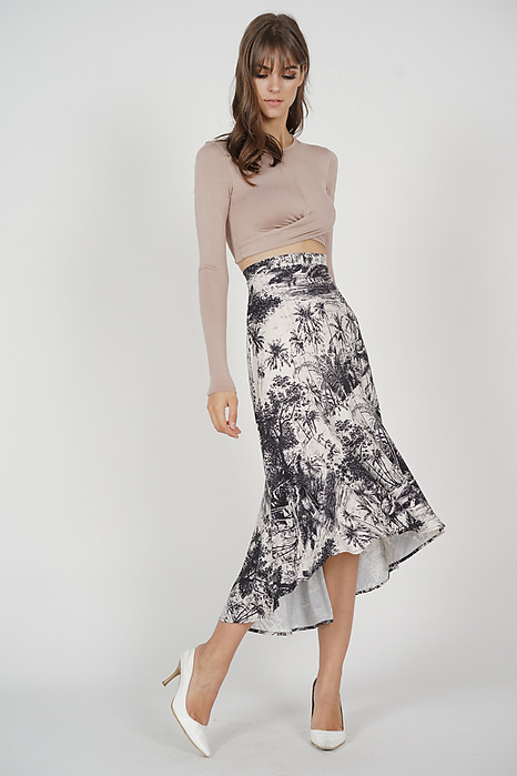 Laroi Asymmetrical Skirt in Black White - Arriving Soon