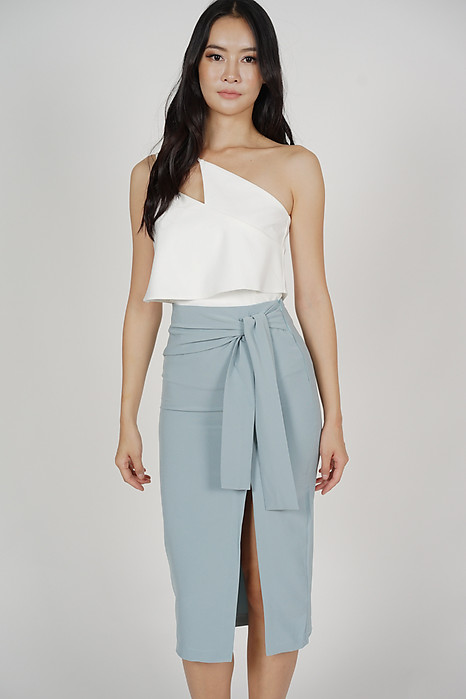 Ulva Slit Skirt in Light Blue - Online Exclusive