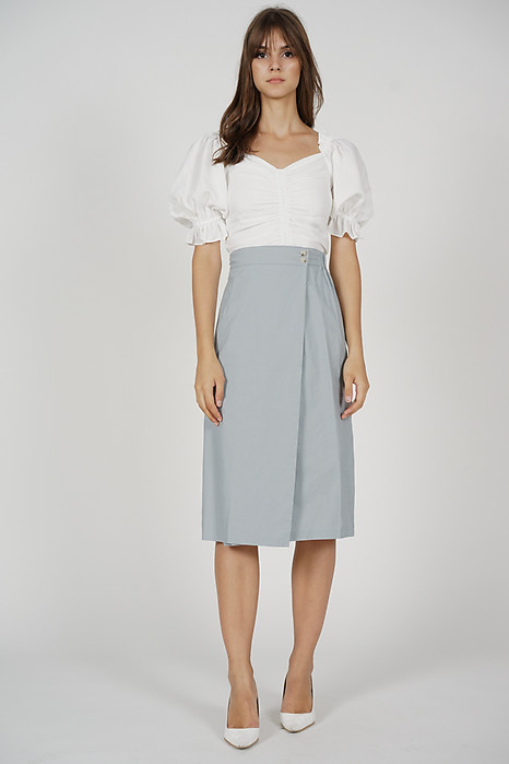Thora Midi Skirt in Light Blue - Online Exclusive