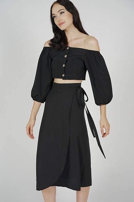 Reina Midi Skirt in Black - Online Exclusive