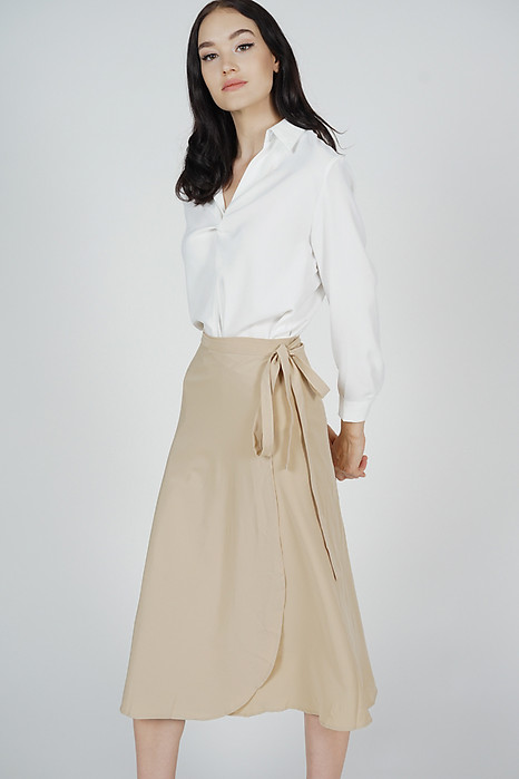 Reina Midi Skirt in Khaki - Online Exclusive