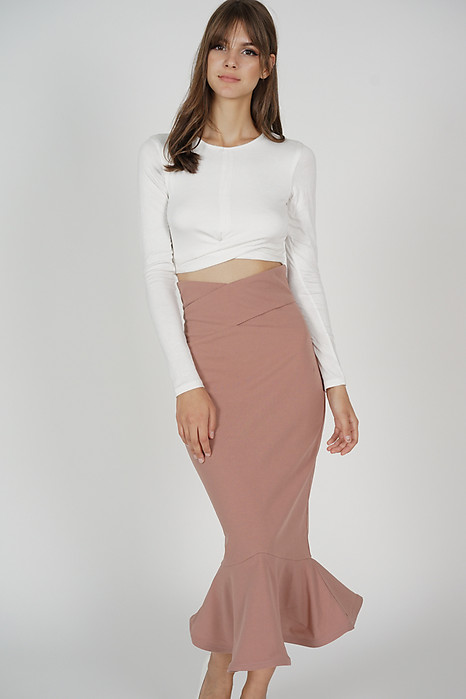 Abrie Flounce Mermaid Skirt in Pink - Arriving Soon