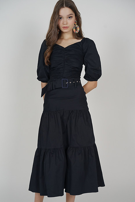Devon Midi Skirt in Midnight - Arriving Soon