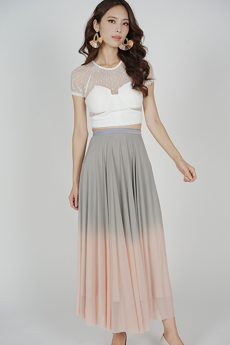 Kosmia Ombre Skirt in Grey Pink - Arriving Soon